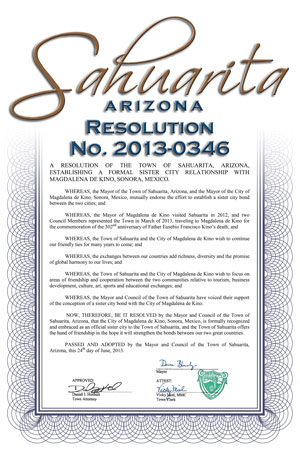 Cover Photo of Sister Cities Resolution