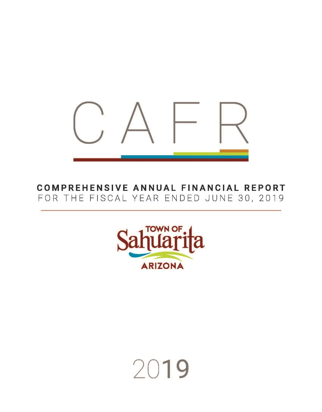 2019 CAFR Cover